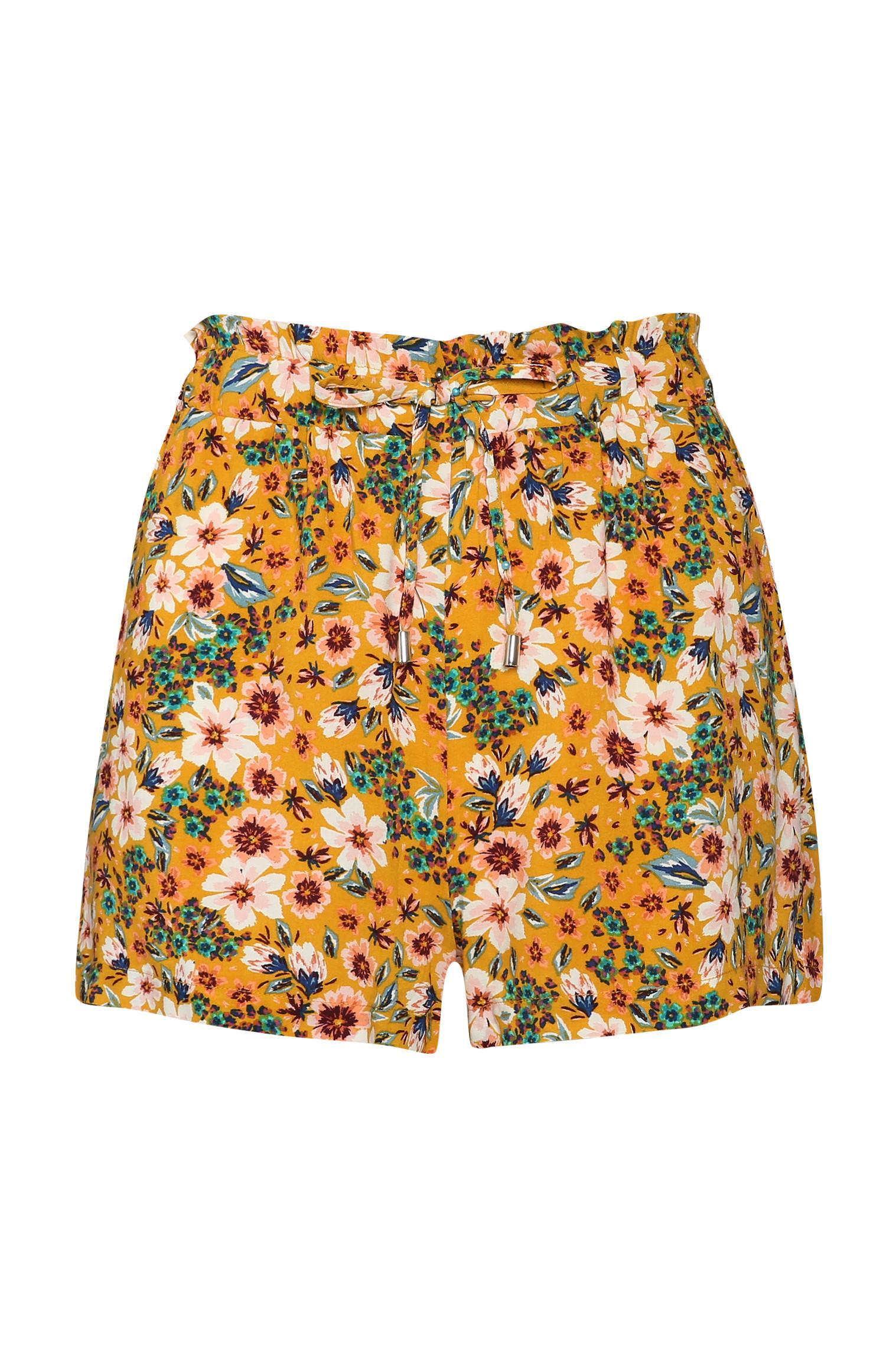 Shorts con stampa a fiori
