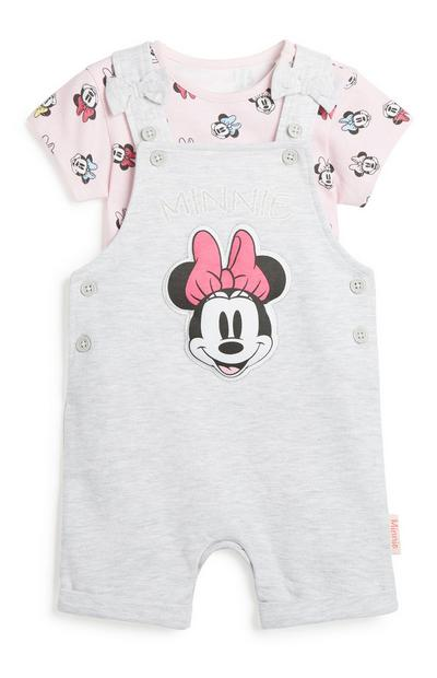 Baby Girl Minnie Mouse Dungaree Set