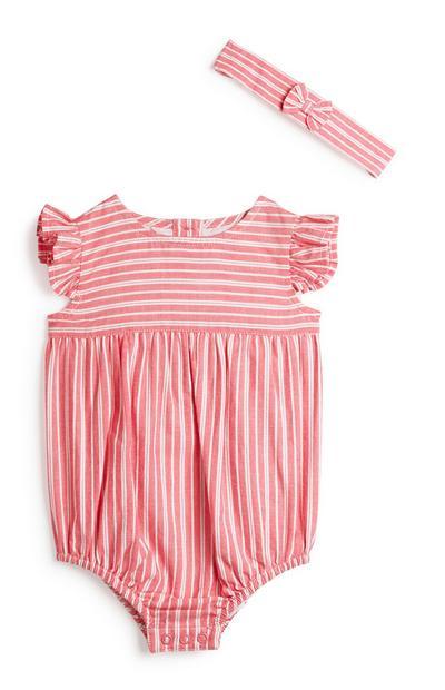 Newborn Girl Striped Outfit 2Pc