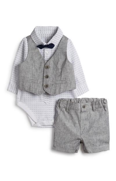 Newborn Boy Suit 4Pc