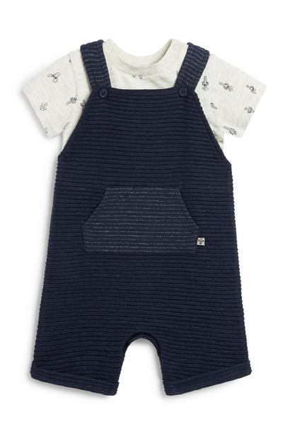 Newborn Boy Dungaree Set