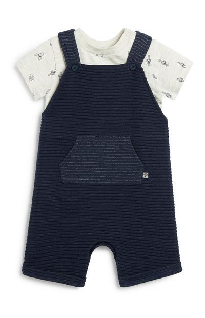 Newborn Boy Dungaree Set