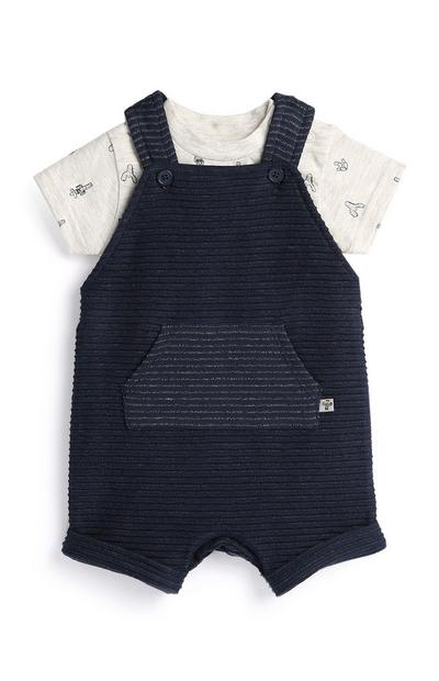 Newborn Boy Navy Dungaree