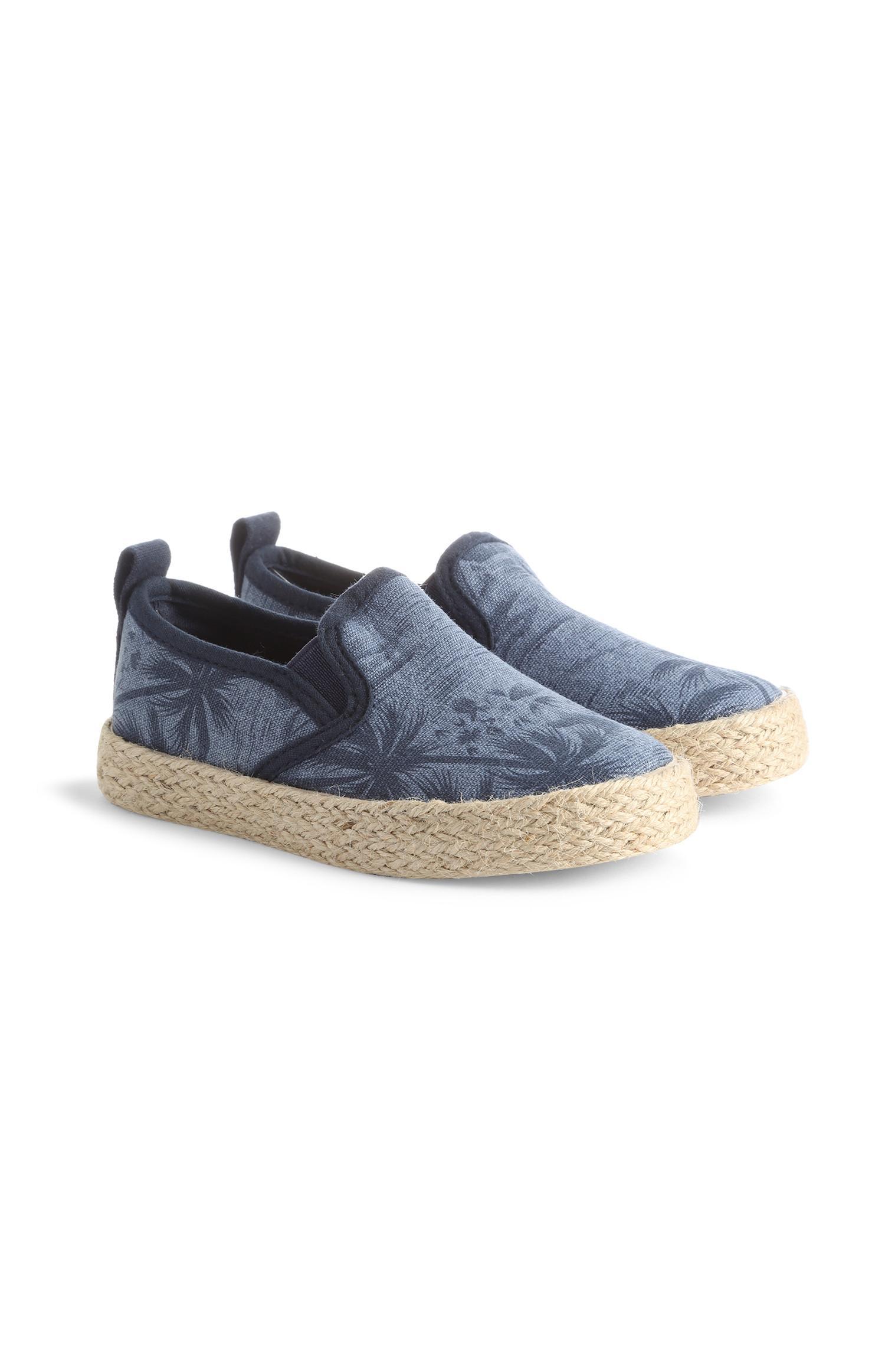Baskets bleu marine en toile