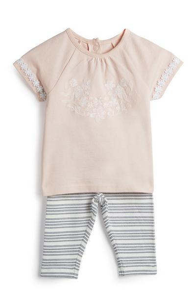 Newborn Girl Floral Outfit 2Pc