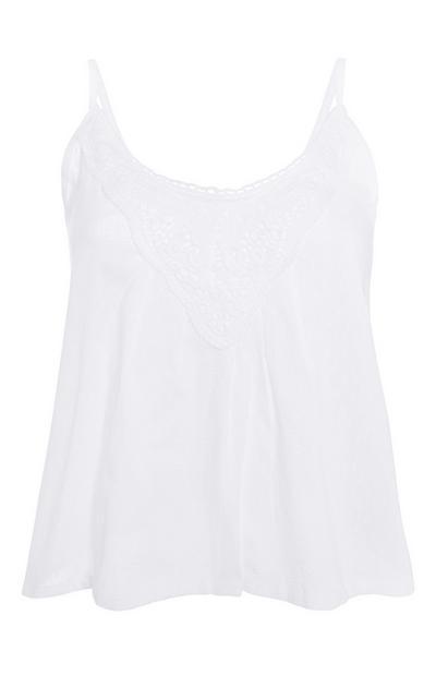 White Pyjama Cami