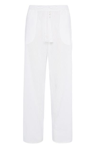 White Pyjama Trouser