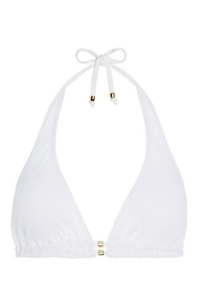 White Crochet Bikini Top