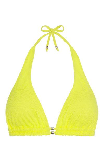Yellow Crochet Bikini Top
