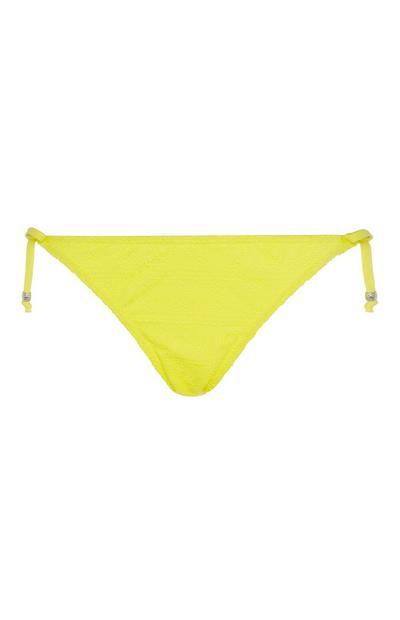 df9043abf039 Braguitas de bikini de crochet amarillo