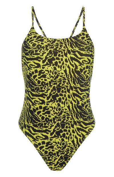 Yellow Animal Swimsuit