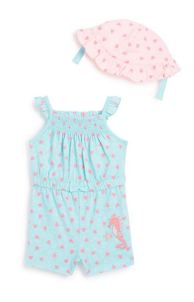 Baby Girl 2Pc Playsuit Set