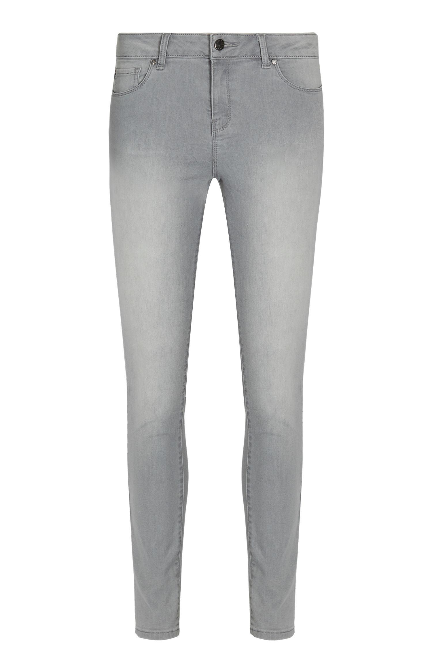 Jeans skinny grigi elasticizzati
