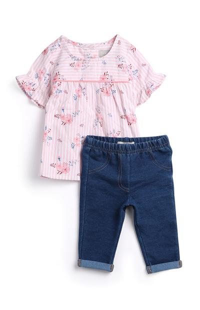 Baby Girl T-shirt And Jeggings