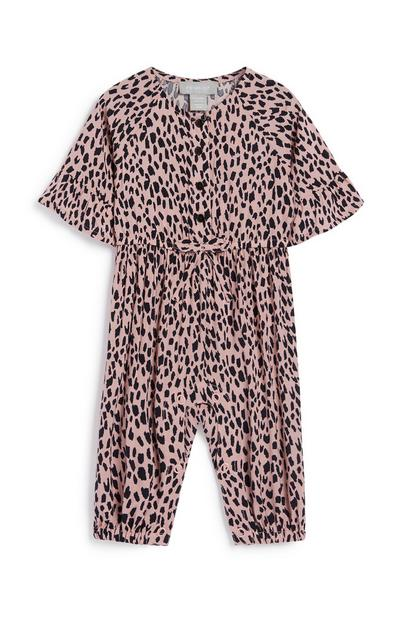 Baby Girl Leopard Jumpsuit