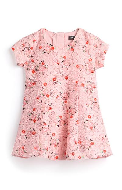 Baby Girl Pink Lace Dress
