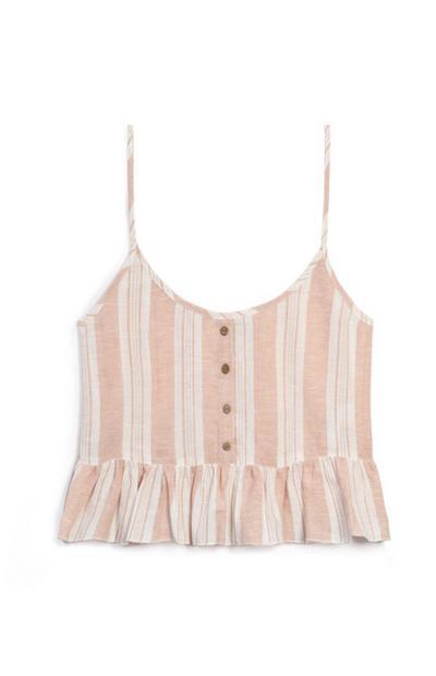Pink Stripe Cami
