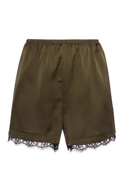 Khaki Pyjama Shorts