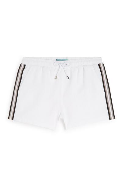 White Side Stripe Short