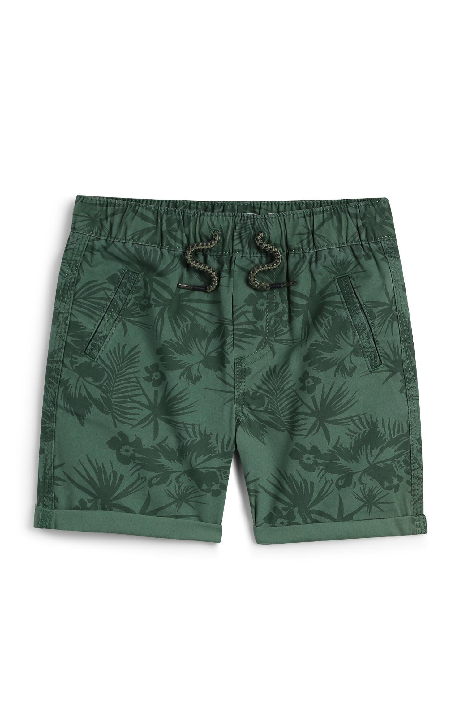 Shorts con stampa palme da bambino