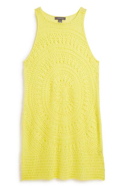 Yellow Knitted Dress