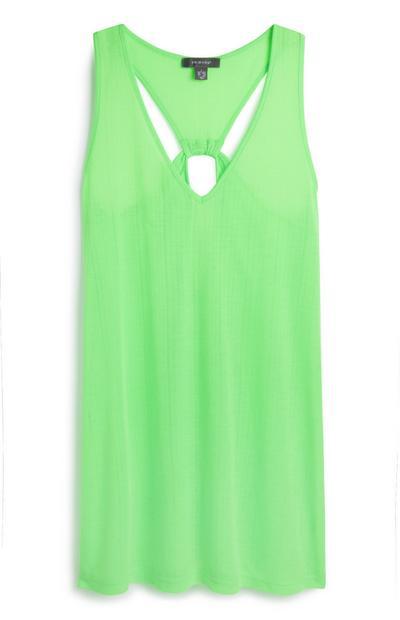 Green Twist Back Jersey Dress