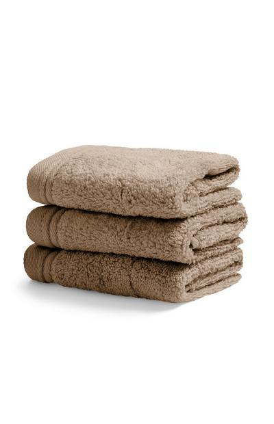 Taupe Face Cloth 3Pk