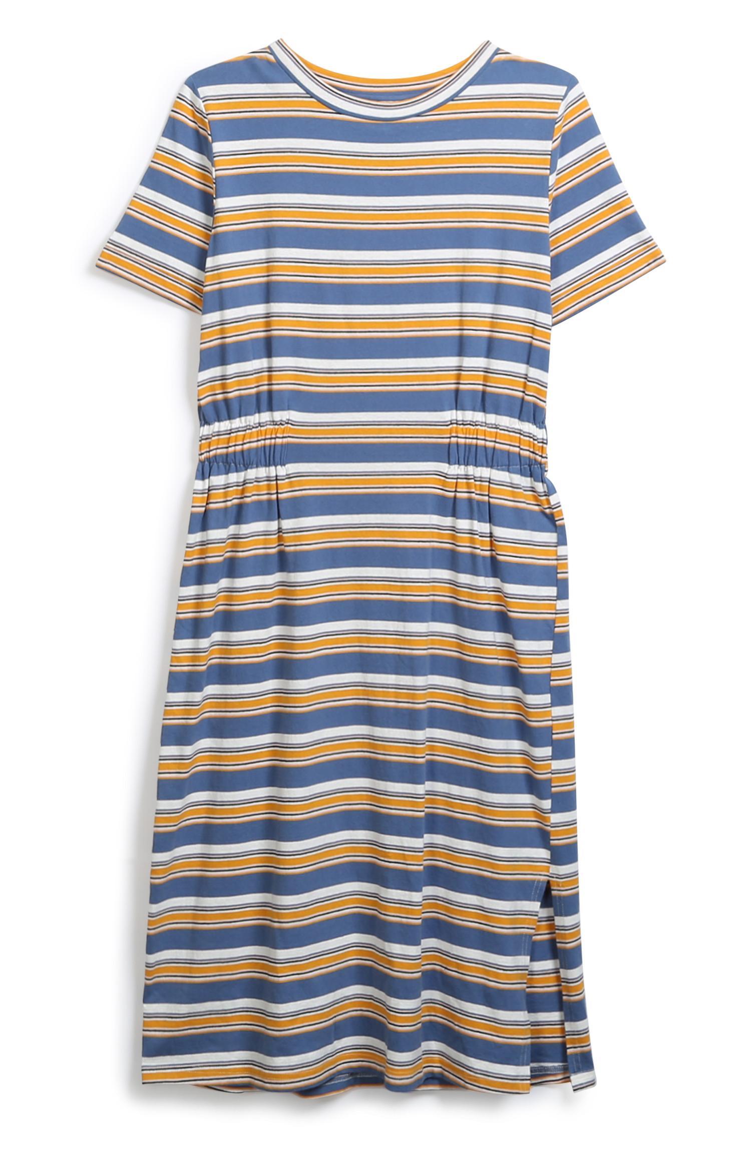 Striped Jersey Midi Dress