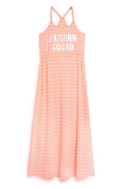 Older Girl Unicorn Maxi Dress