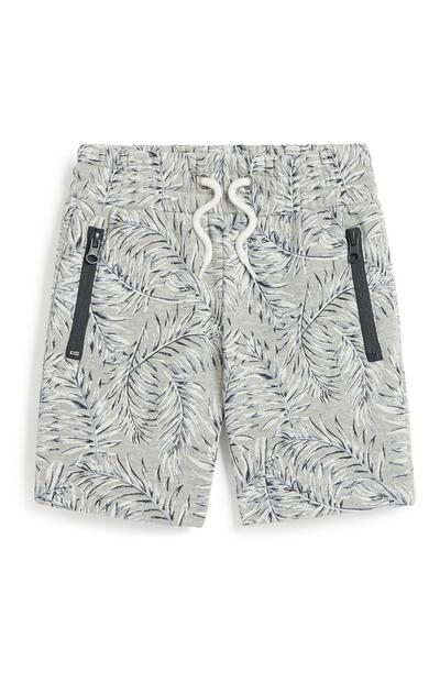 Younger Boy Leaf Print Short