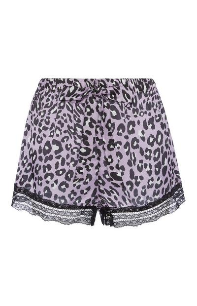 Animal Print Pyjama Shorts