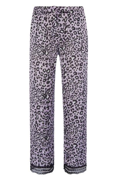 Lilac Animal Print Pyjama Trousers