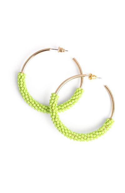Neon Green Hoop Earring