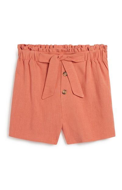 Older Girl Belted Short