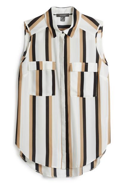Stripe Sleeveless Shirt