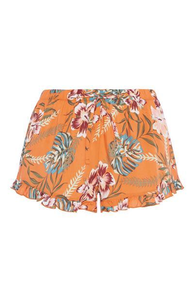 Oranage Floral Pyjama Short