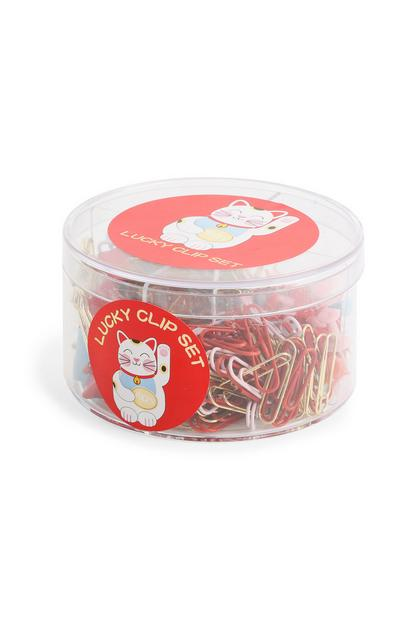 Lucky Cat Clip Set