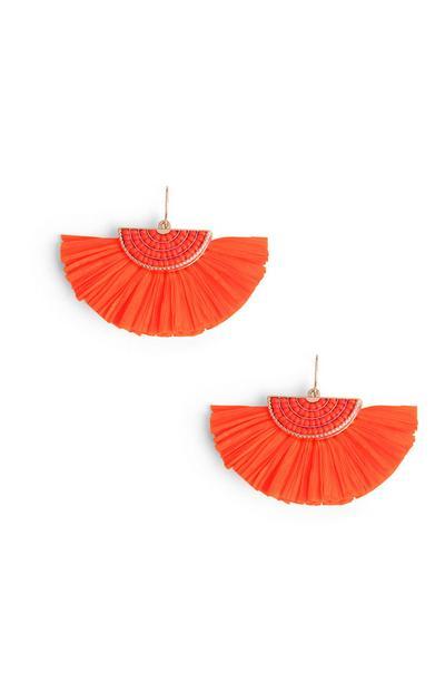 Orange Fan Earring
