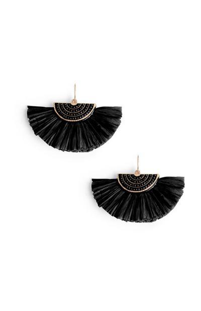 Black Fan Earring