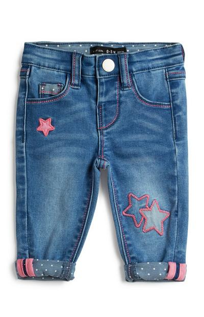 63c5746f4b1 Vaqueros con estrellas para bebé niña