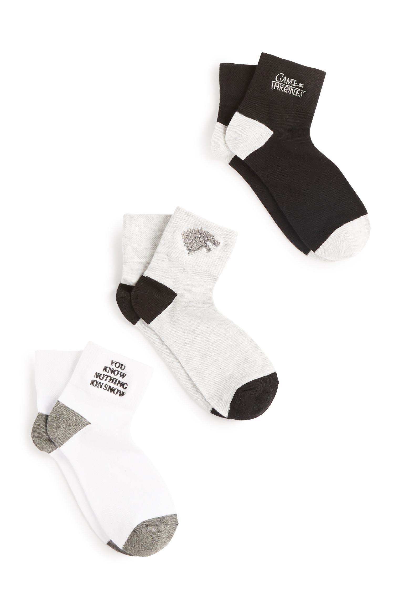 Game Of Thrones Socks 3Pk