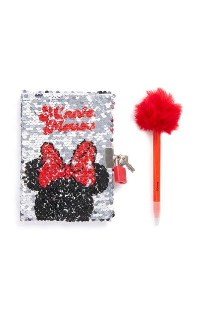 Minnie Mouse Sequin Notebook and Pen