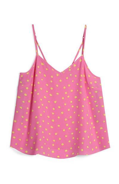 Pink Polka Dot Cami Top