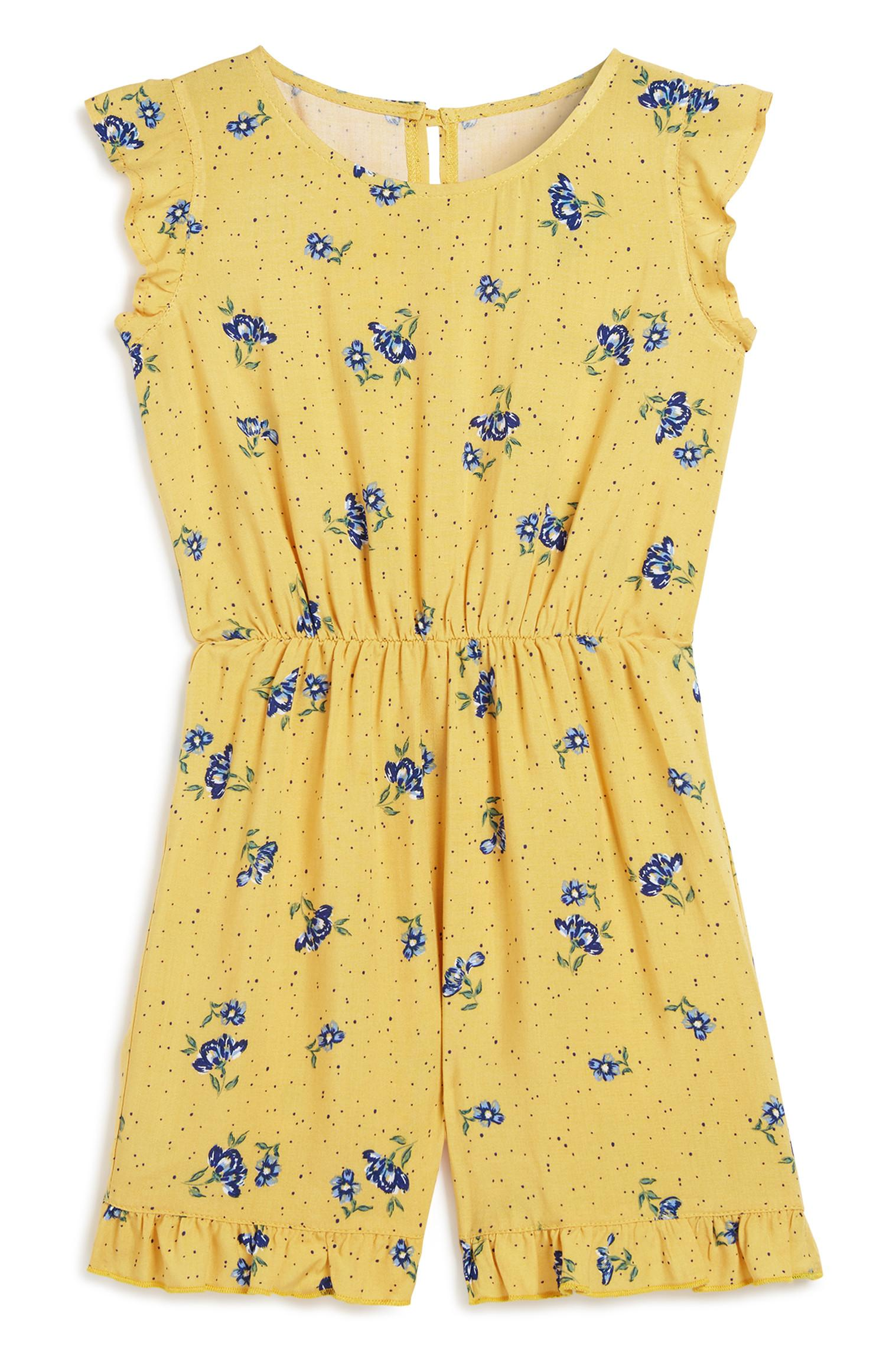 Younger Girl Floral Playsuit