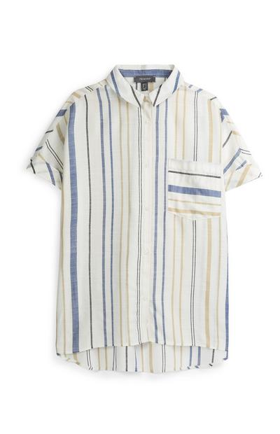 Blue Stripe Oversized Shirt