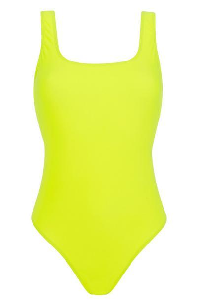 Neon Yellow Swimsuit
