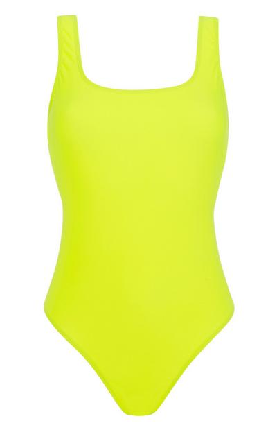 Neon Yellow Swimsuit