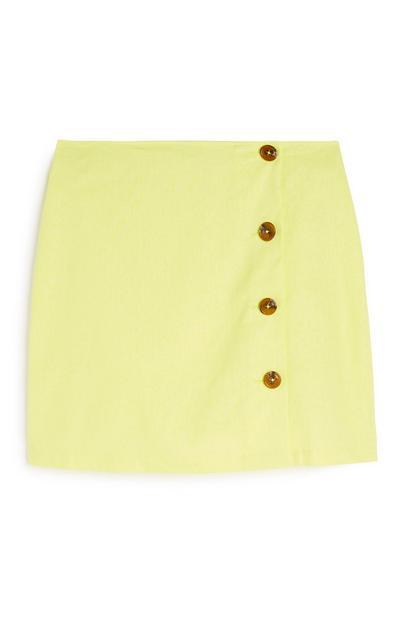 Yellow Button Skirt