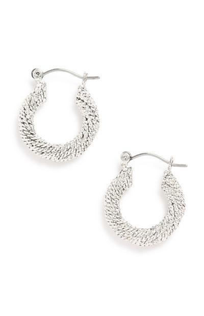 White Hoop Earring