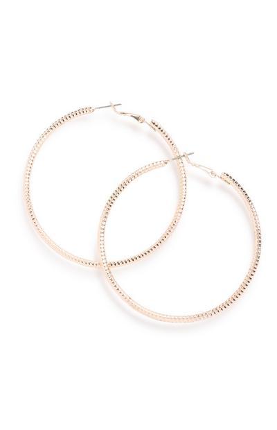 Pink Hoop Earring